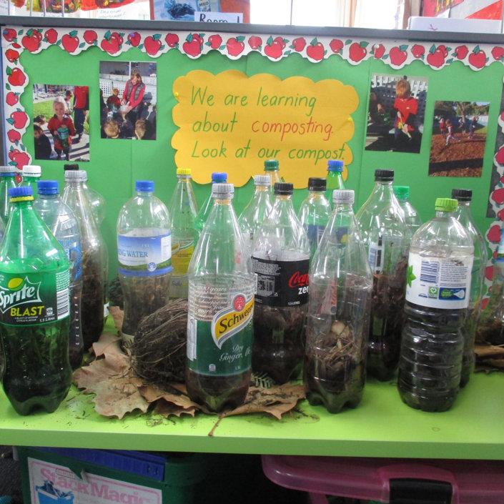 Bottle compost at Witherlea School