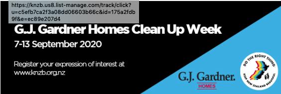 GJ Gardner Homes Clean Up Week 2020