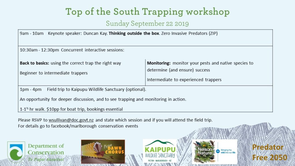 Top of the South Trapping workshop